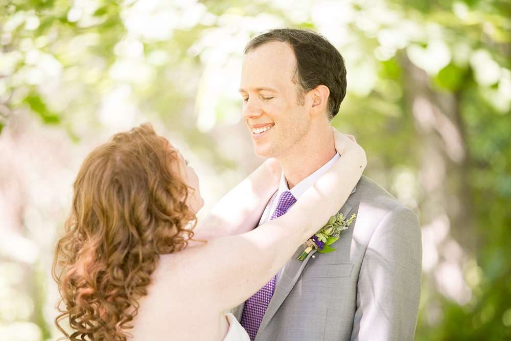 The wedding couple during their First Look at Airlie   Megan Rei Photography   Northern Virginia Wedding Photographer   Warrenton, VA Wedding