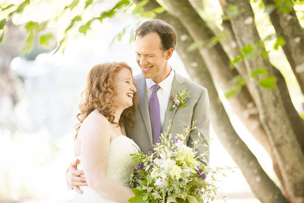 The happy wedding couple during their First Look at Airlie   Megan Rei Photography   Northern Virginia Wedding Photographer   Warrenton, VA Wedding