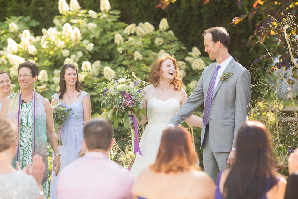 Married couple on their wedding day in Warrenton Virginia   Megan Rei Photography