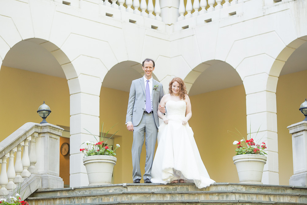 The staircase at Airlie is such a perfect spot for wedding photos   Warrenton, Virginia Wedding   Megan Rei Photography