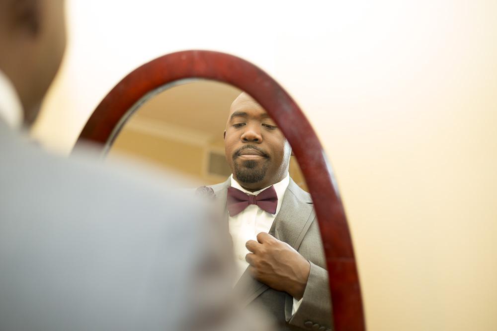 Sherman getting ready for his wedding day | Westfields Marriott Washington Dulles | Chantilly, VA Wedding Photography