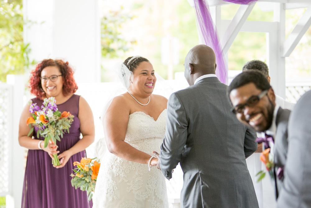 Such a happy wedding ceremony! | Westfields Golf Club Wedding | Megan Rei Photography | Northern Virginia Wedding Photographer