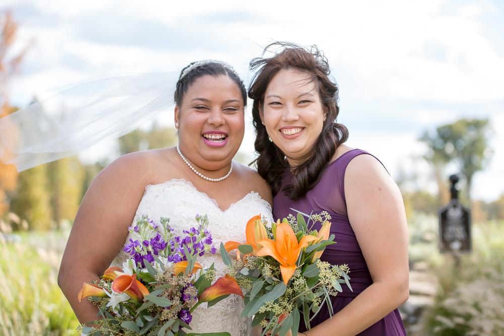 Bride and bridesmaid wedding photos| Clifton, VA Wedding Photography