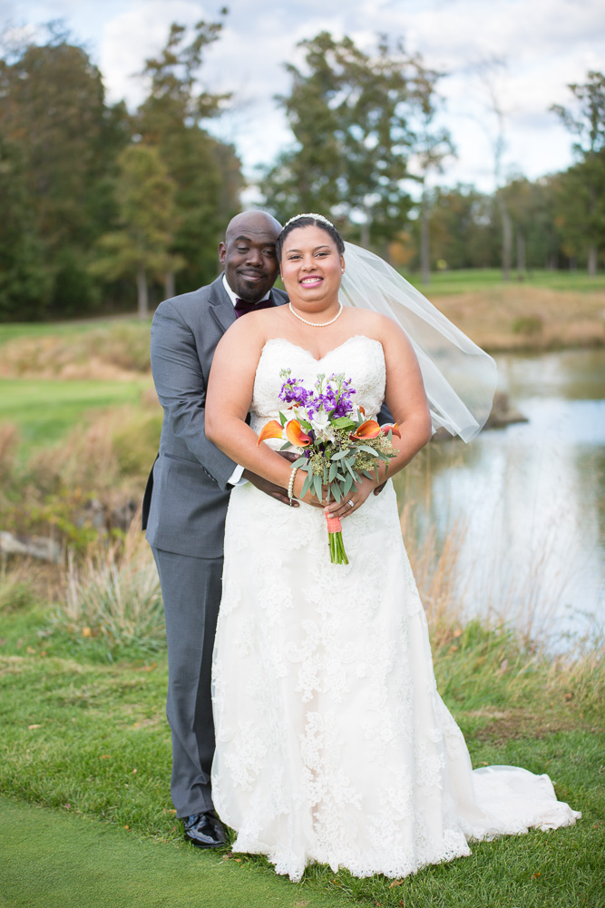 Aren't they just the cutest bride and groom? | Westfields Gold Club Wedding Photography | Northern Virginia