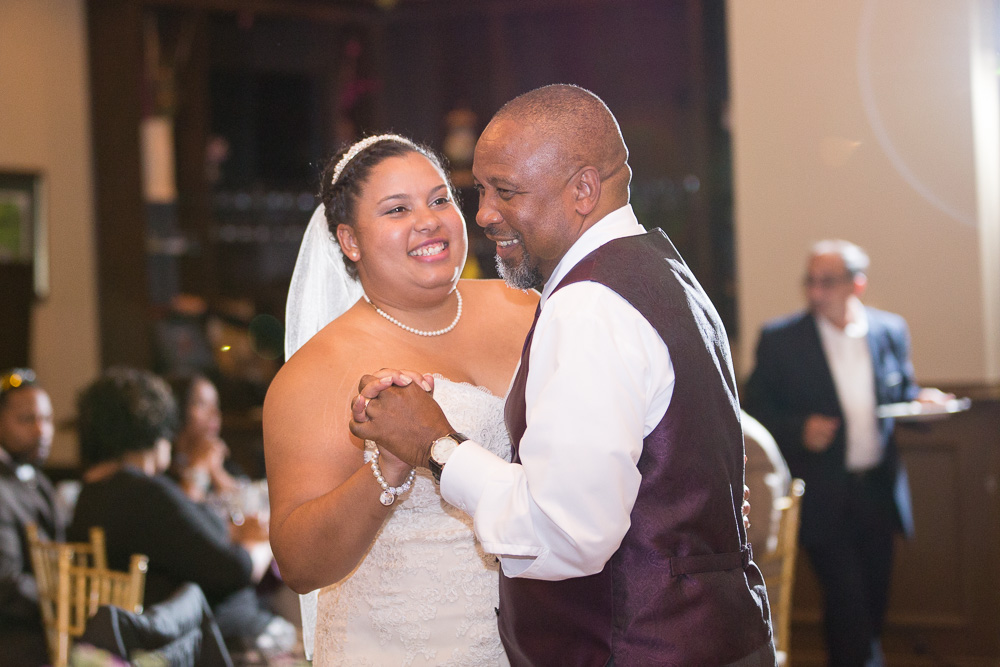 Father-daughter dance during the wedding reception | Clifton, VA Wedding at Westfields Golf Club