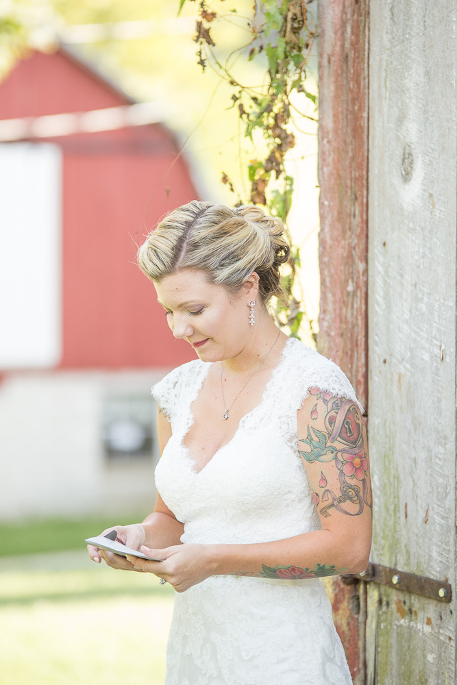 Bride during the first look | DC same sex wedding