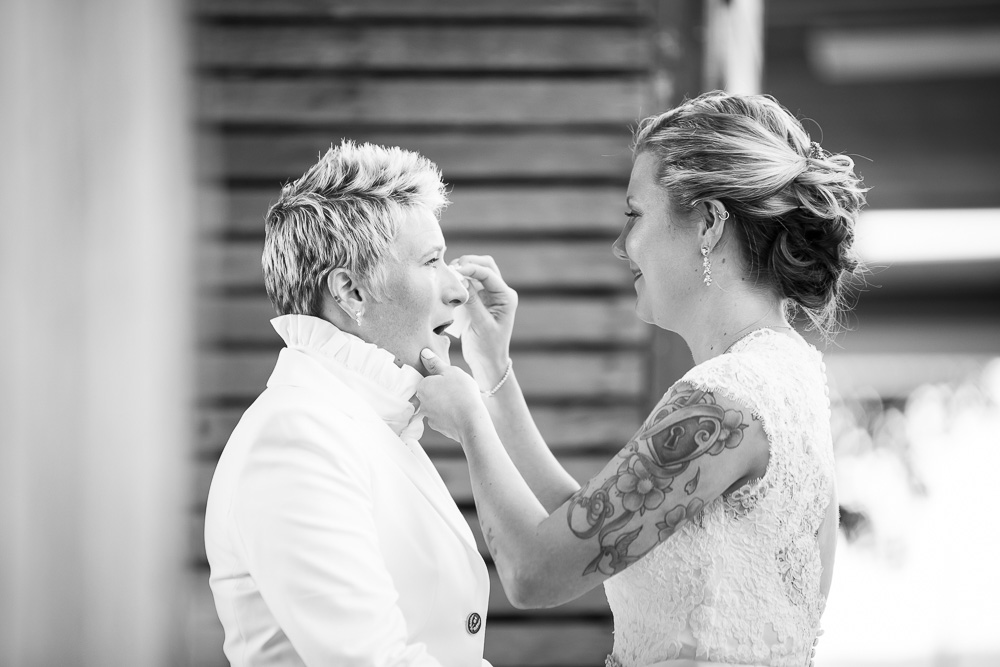 I just love the emotion in this one| First Look Wedding Photos | Megan Rei Photography | Linganore Winecellars Wedding