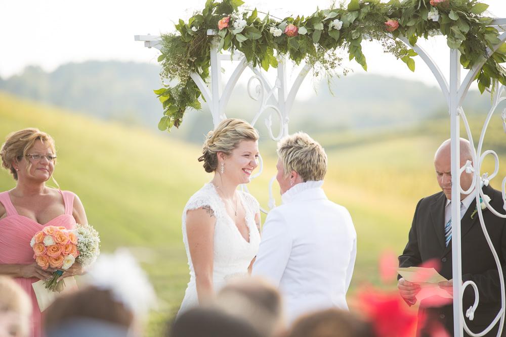 Wedding ceremony smiles | Megan Rei Photography | DC Wedding Photographer | LGBT Wedding Photography