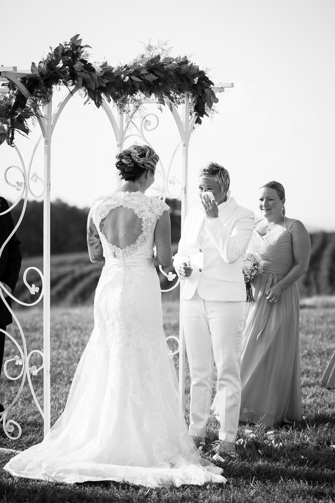 Emotional wedding ceremony moment during DC-area wedding