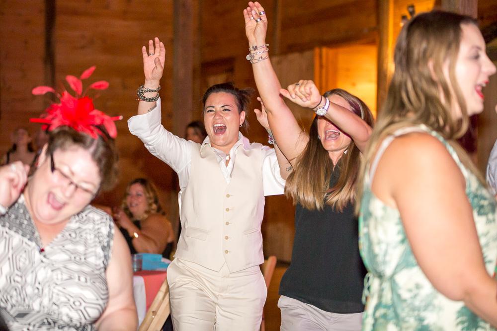 Dance floor wedding photos at Linganore Winery