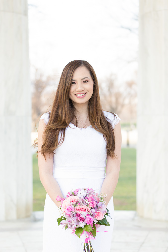Beautiful bridal portrait | DC War Memorial Wedding Photos | Washington, DC Wedding