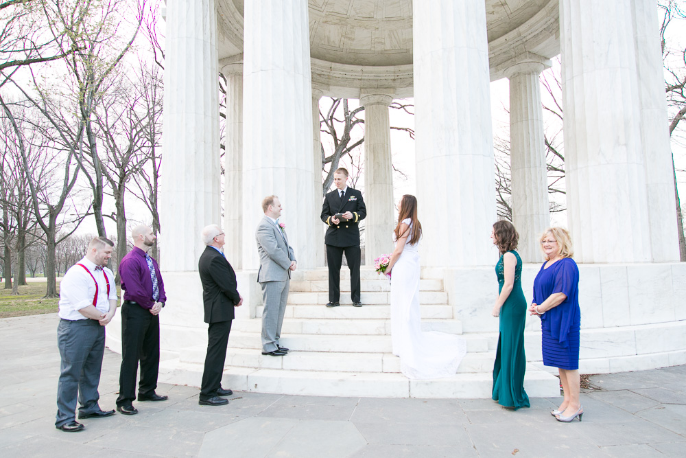 DC War Memorial Wedding Ceremony | Megan Rei Photography | Northern Virginia and Washington DC Wedding Photography