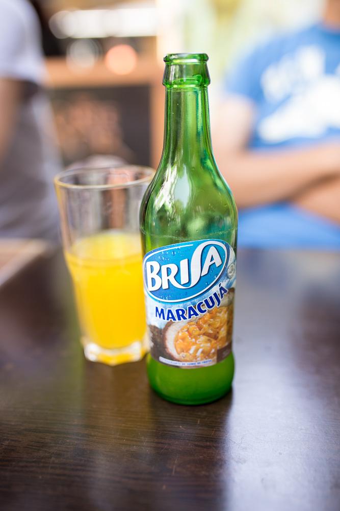 Brisa Maracuja at a café in Funchal