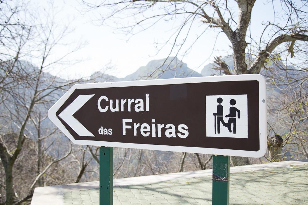 Sign for Curral das Freiras