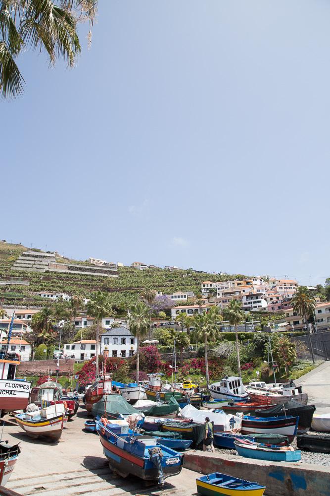 Colorful boats in Câmara de Lobos, Madeira