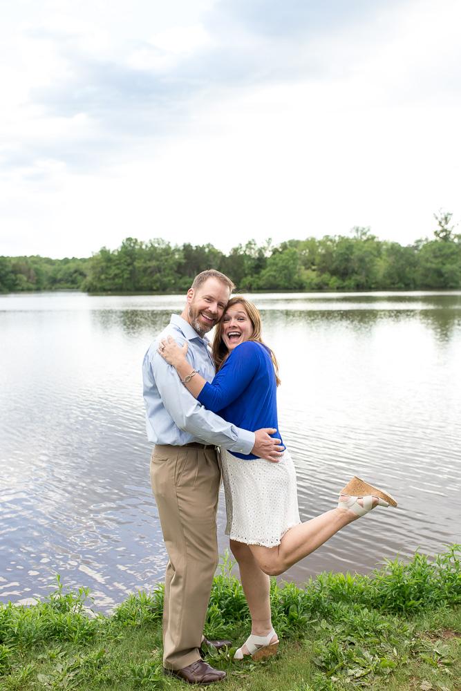 The happiest couple at Mountain Run Lake