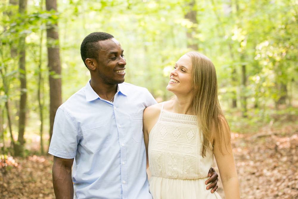 Engagement photos in the woods | Northern Virginia Wedding Photographer