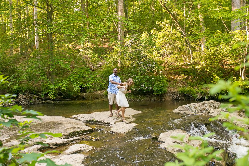 Having fun at Quantico Falls | Photojournalistic wedding photography in Northern Virginia | Megan Rei Photography