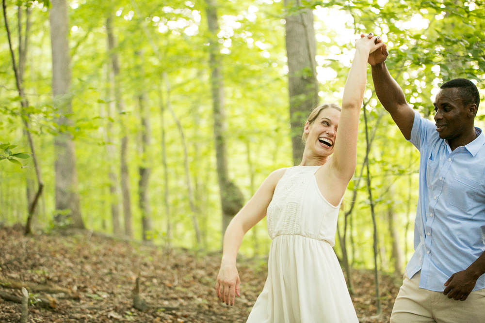 Dancing in the forest | Candid wedding photography