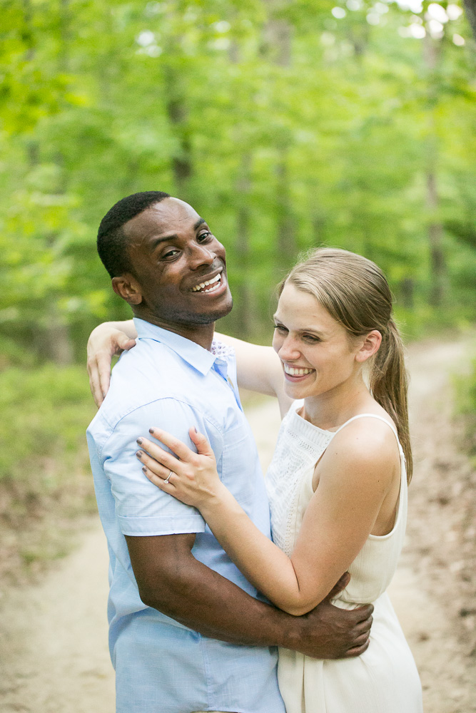 Natural engagement photos for outdoorsy couples | Candid Virginia Wedding Photography | Megan Rei Photography