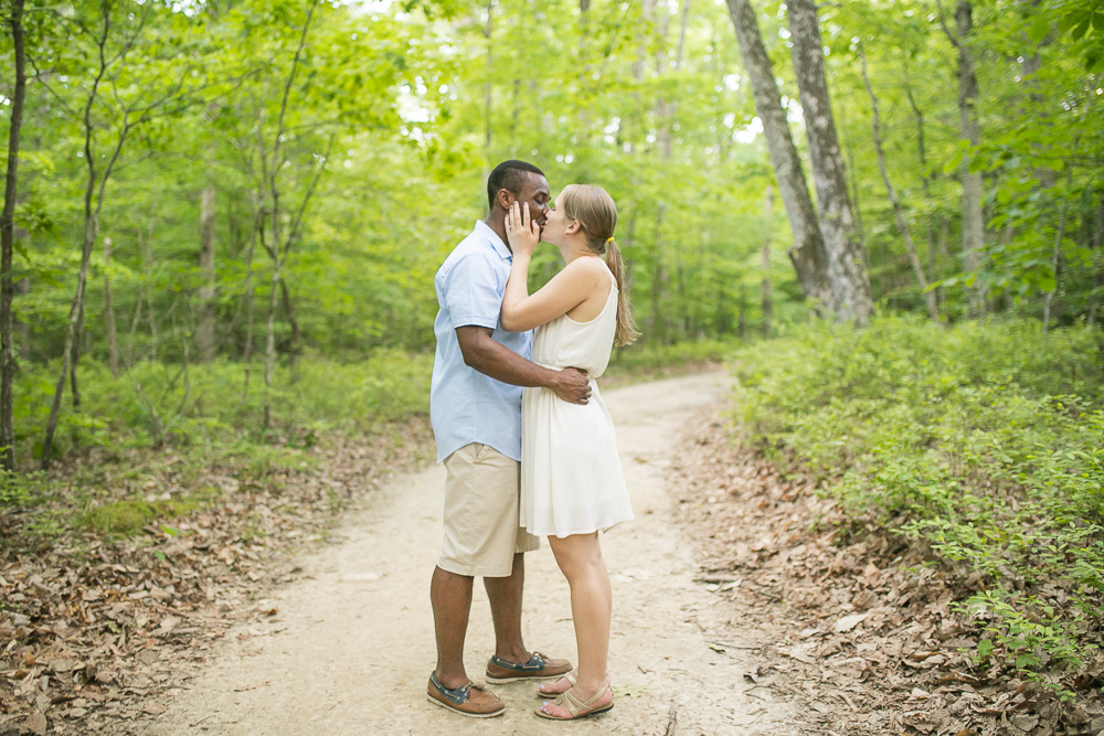 Hiking engagement photography in the woods | Megan Rei Photography | Northern Virginia Wedding Photographer