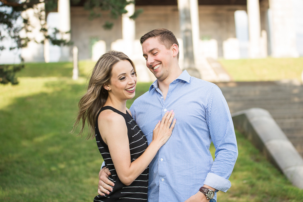 Cobb's Hill Park Engagement Session | Photojournalistic wedding photographer in Rochester