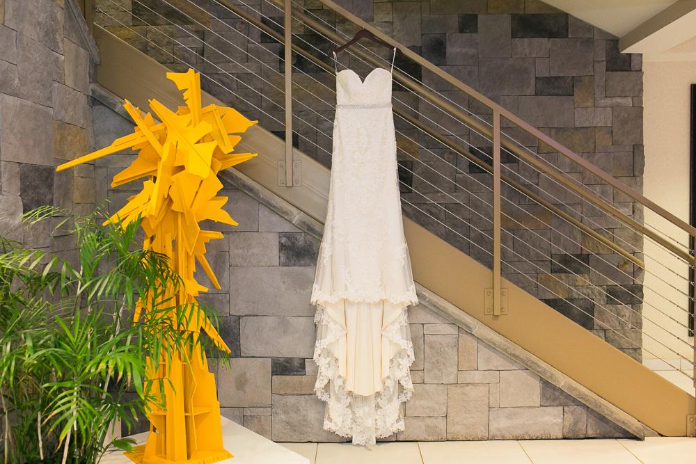 Wedding dress at The Strathallan | Rochester, NY