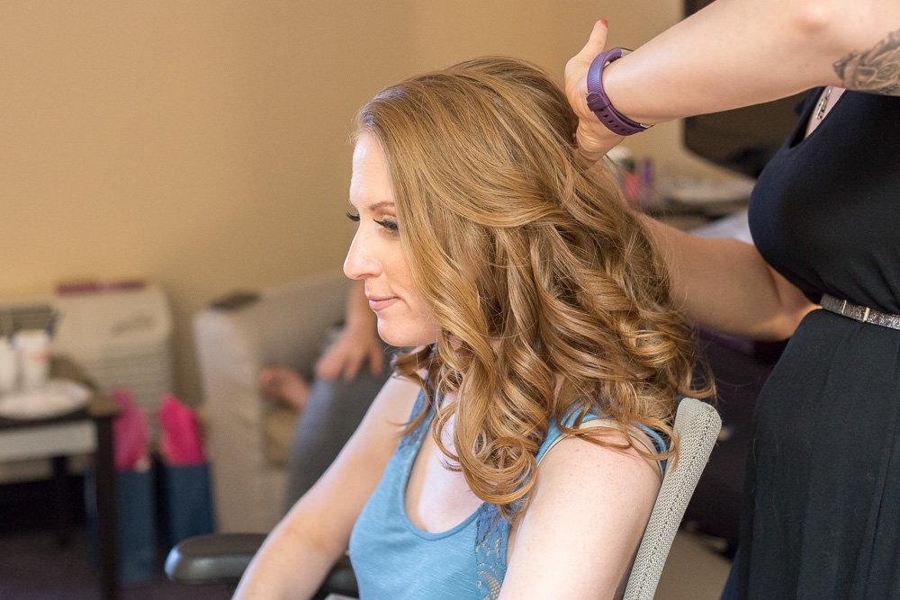 Bride getting ready for her wedding day at The Strathallan Rochester Hotel & Spa | Rochester, NY