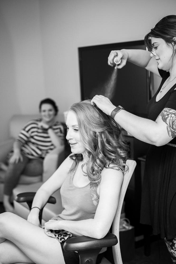 Bridal hair by April Sunshine | Megan Rei Photography | Rochester Wedding Photographer
