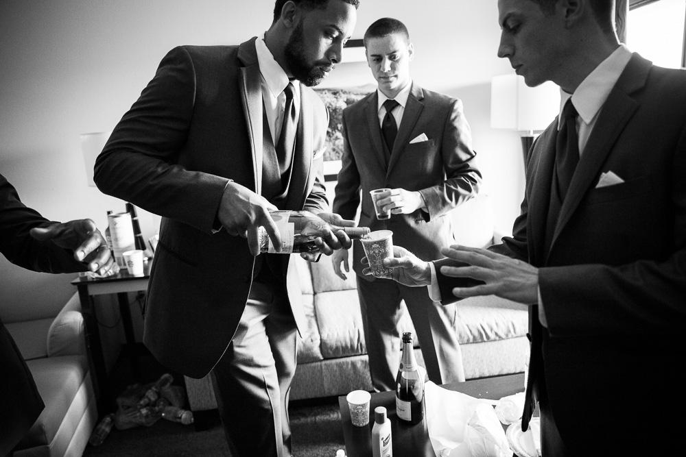 Candid Wedding Photography | Groomsmen getting ready | Rochester New York Wedding Photographer | Megan Rei Photography