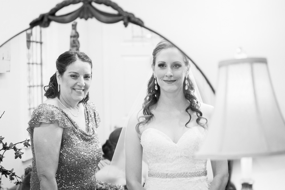 Bride and mother of the bride getting ready in the bridal suite | Chapel Hill on Prince Street, Rochester, NY