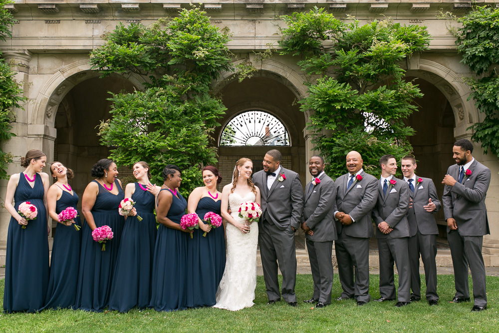 Wedding party photos at George Eastman House | Rochester Wedding Photographer | Megan Rei Photography