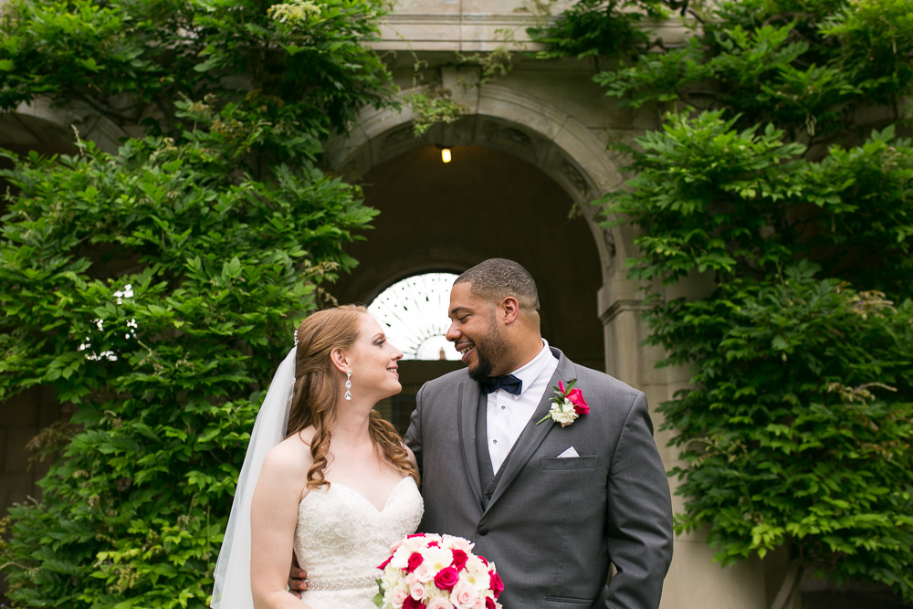 Bride and groom at George Eastman House | Best Wedding Photography Locations in Rochester, NY | Megan Rei Photography