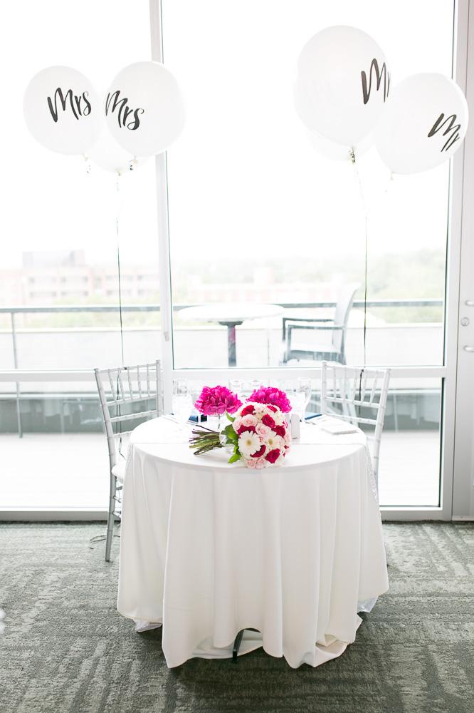 Wedding balloons at the sweetheart table | The Strathallan Wedding Photos | Megan Rei Photography