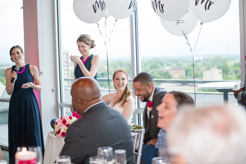 Wedding toast from Maid of Honor | The Strathallan, Rochester, NY | Documentary Wedding Photograper | Megan Rei Photography