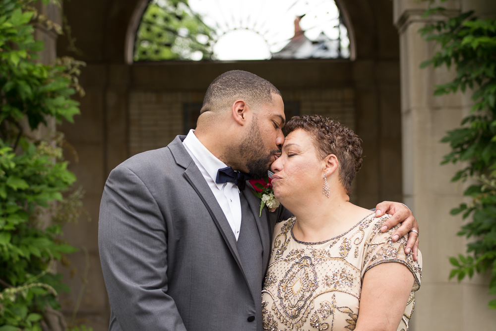 Sweet photo of groom and his mom | Documentary Wedding Photographer in Rochester, NY | Megan Rei Photography