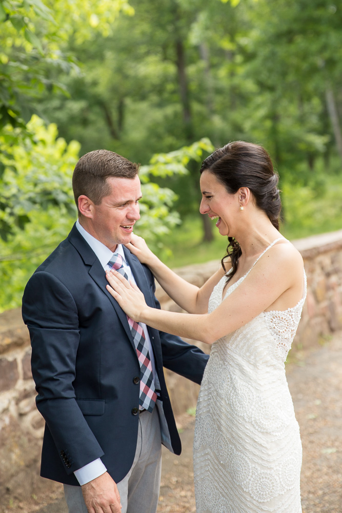 Wedding day laughter | Fun wedding photographer in Northern Virginia | Candid, documentary style wedding photography