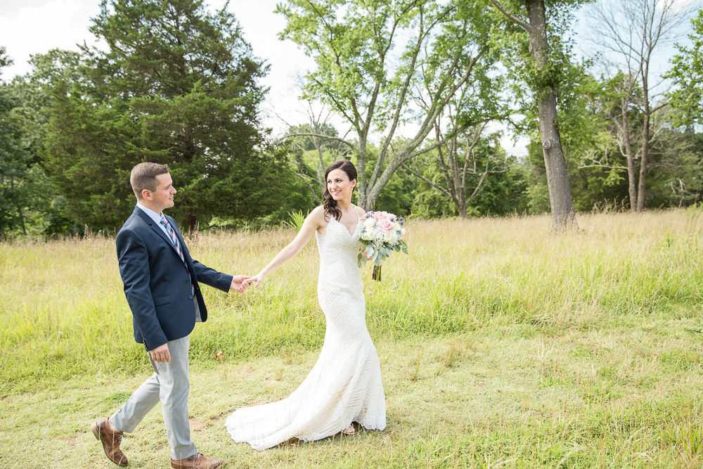 Wedding photos at Manassas National Battlefield Park | Natural light photographer in Washington, DC area | Wedding dress by Maggie Sottero Designs from Bridals by Elena