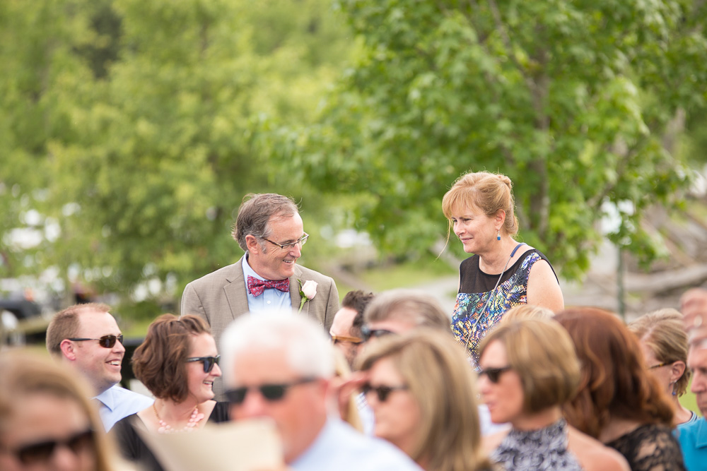 Guests being seated before the ceremony at the Hillwood Ruins | Documentary wedding photography in Northern Virginia