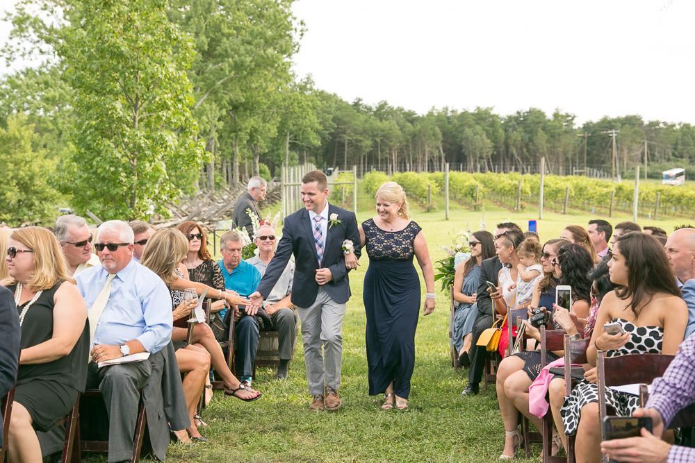 Groom walking down the aisle | Vineyard Wedding Venues in Northern Virginia | Bull Run Winery