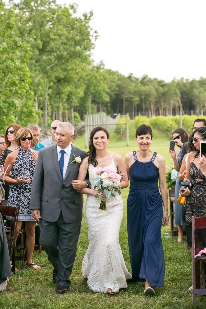 Bride's processional | Northern Virginia Vineyard Wedding Venue | Megan Rei Photography