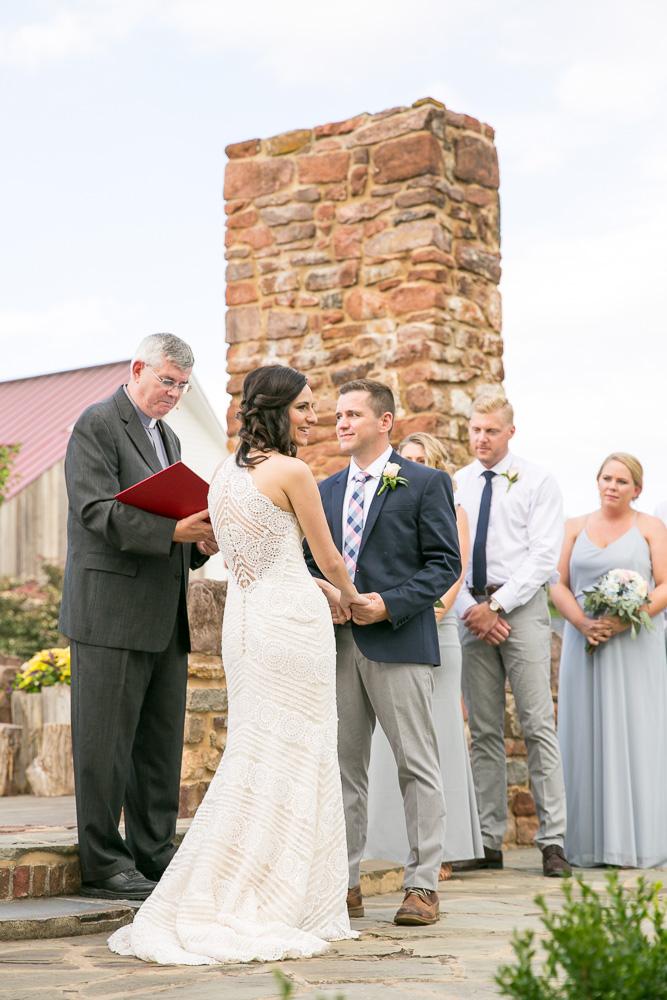 Wedding ceremony at the Hillwood Ruins at Winery at Bull Run | Bealeton, VA Photographer | Megan Rei Photography