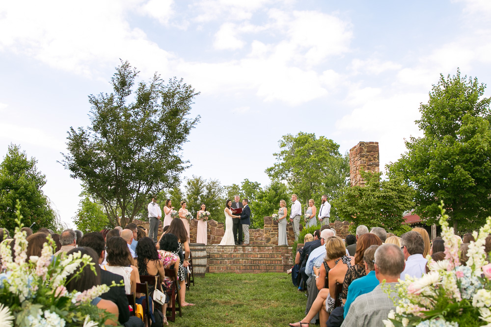 Best outdoor wedding venues in Northern Virginia | Hillwood Ruins ceremony site at the Winery at Bull Run | Centreville Wedding Photographer | Megan Rei Photography
