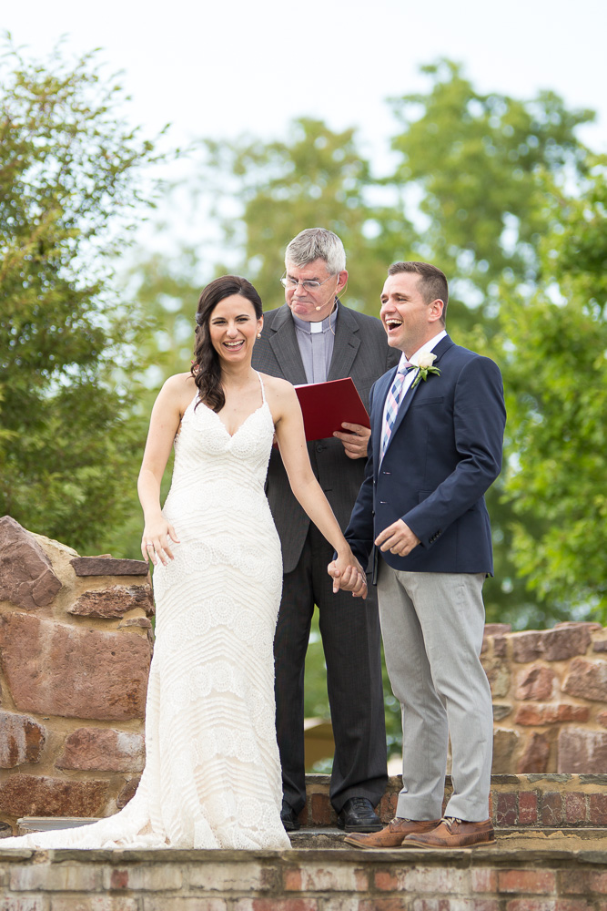 Laughter during the wedding ceremony | Candid Northern Virginia Wedding Photographer