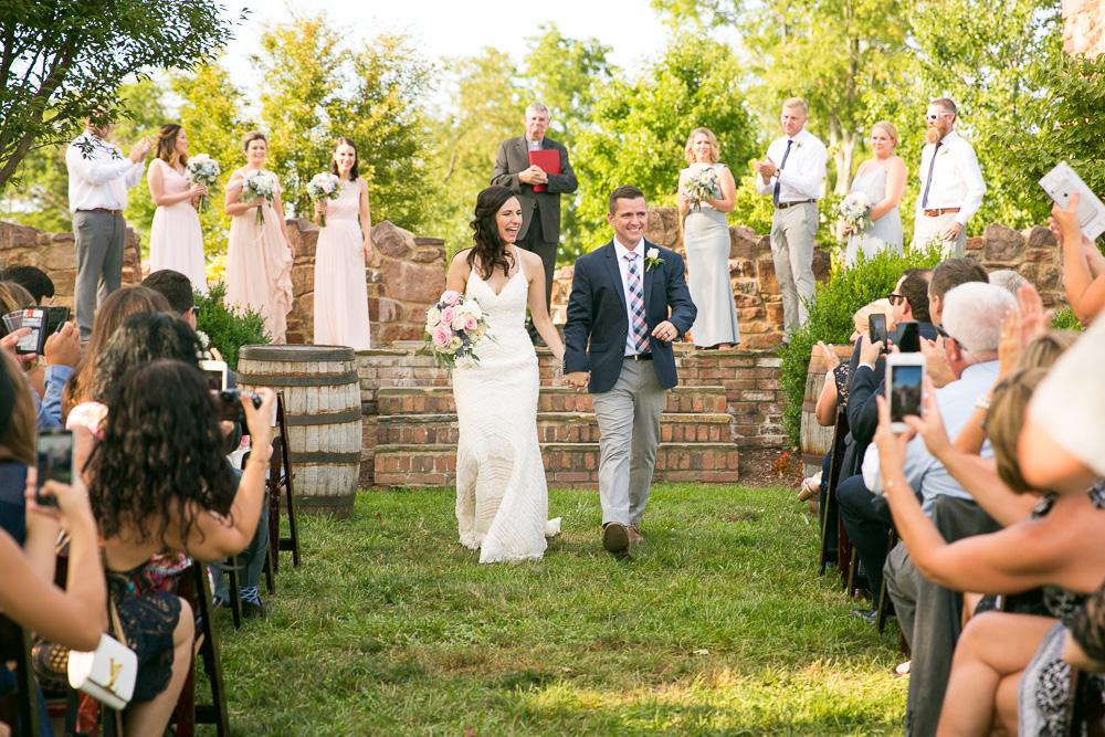 Happy bride and groom | Winery at Bull Run Wedding | Northern Virginia Documentary Wedding Photographer