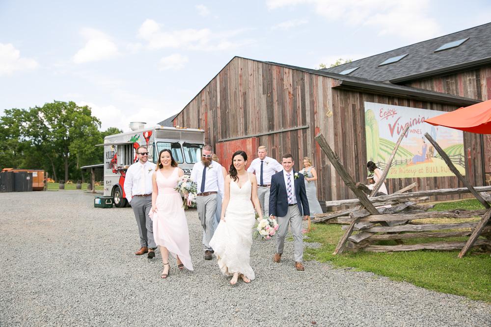 Wedding party photos at The Winery at Bull Run