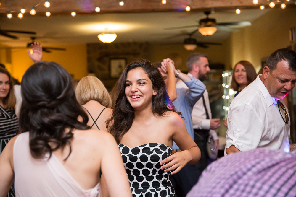 Wedding dance floor at Bull Run Winery | Candid wedding photography in Centreville, VA| Perpetual Sound DJ