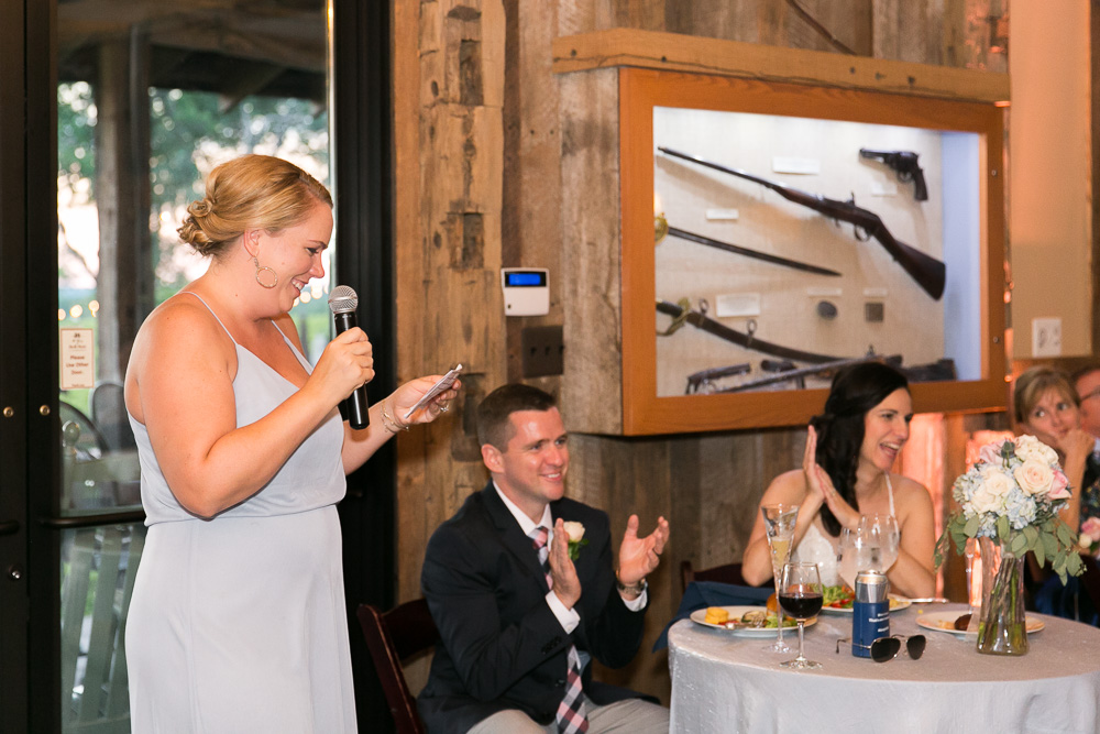 Candid photos during the wedding toasts | Candid wedding photography in Washington DC