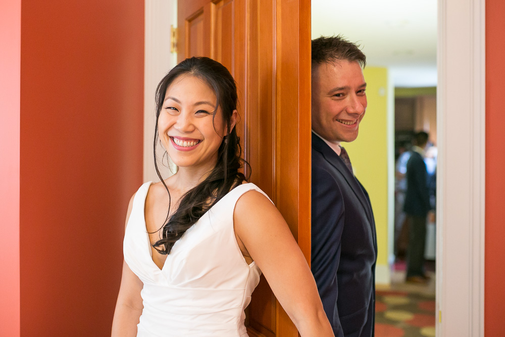 First look no peek | Bride and groom before the wedding ceremony | Northern Virginia Wedding Photography