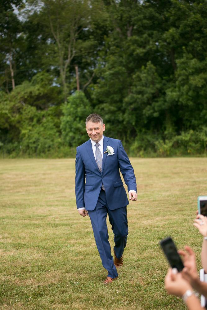 Groom walking down the aisle | Northern Virginia Wedding Photographer